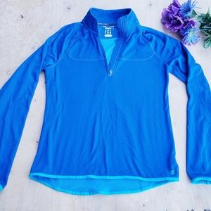Champion blue long sleeve thermal style top (3)